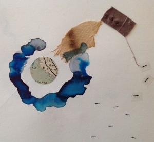 Nelly Buret - aquarelle et collage