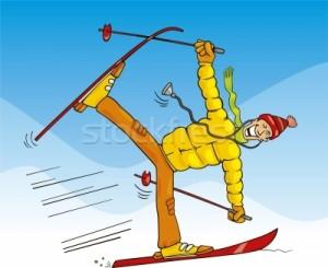 ski-sourire-neige-drôle