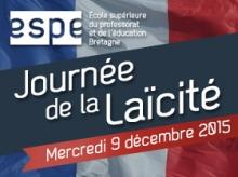 Affiche journée de la laïcité ESPE de Bretagne